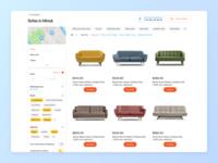 GDS artox home cross-platform sofa furniture marketplace e-commerce website ui ux