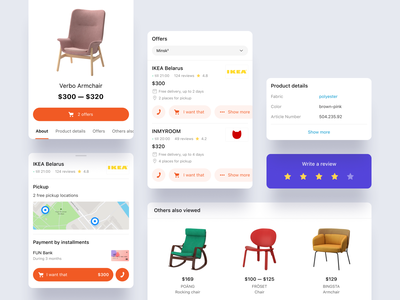 Sellers artox cross-platform chair furniture sellers marketplace e-comerce website ui ux