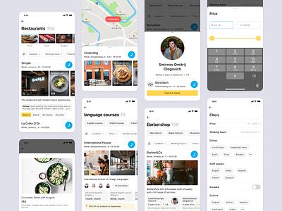 Listing Templates artox product bookings map filter food cross-platform listing ux ui