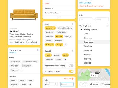 Filters & Sort marketplace artox real case cross-platform sorting sort filters product ui ux