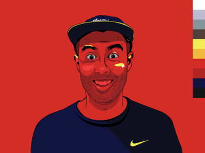 Eric Koston Portrait Rd.xBLU// Series