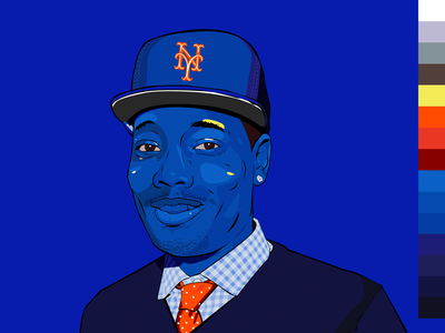 Michael Che Portrait Rd.xBLU// Series