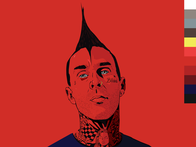 Travis Barker Portrait Rd.xBLU// Series