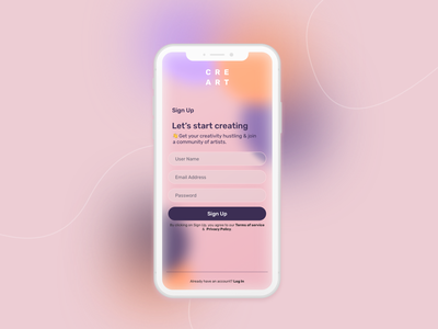 Here we go again - Daily UI challenge day 01 product design ui interface design dailyuichallenge pink mobile daily 100 challenge daily ui dailyui