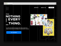Day 3 of UI daily challenge, Landing Page above fold !