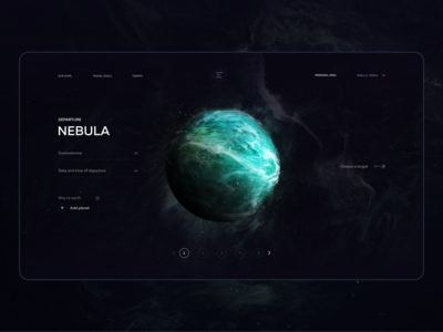 Flying to earth promo webdesign web design spaceships blender 3d game advantages nebula earth flying planet after effect dimusbaev figma design ux ui