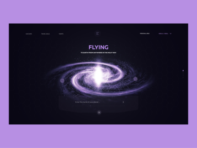 Flying to earth promo design web design game nebula blender 3d advantages animation flying after effects planet galaxy dimusbaev ux ui