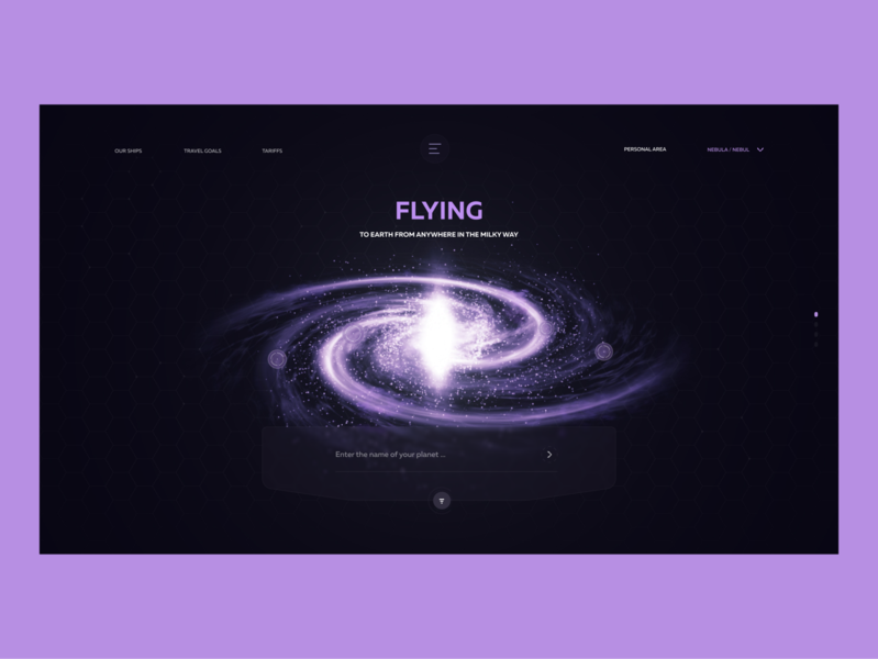 Flying to earth. Galaxy milky way promo design web design game nebula blender 3d advantages animation flying after effects planet galaxy dimusbaev ux ui