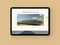 Project for a holding company #2 corporate design capital holding company energy ecology plante web-design figma minimalism design ux ui