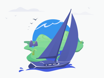 Adventure club dimusbaev adventure yacht adobe illustrator illustration art figma vector design ilustrator