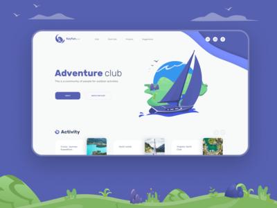 Adventure club. First screen