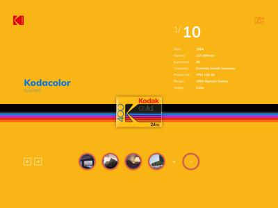 Kodak for fun interface design screendesign photography ui animation website