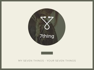 7thing branding logo logo design color type app