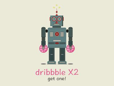 Invite invite giveaway dribbble draft prospect robot
