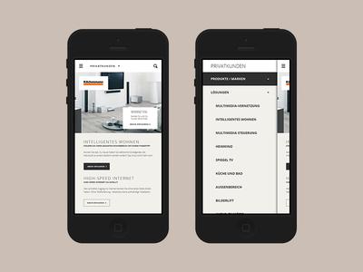 Kilchenmann Mobile website mobile responsive web design clean