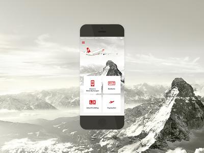 Swiss Mobile App app mobile iphone flight ui ux ios interface flat buttons swiss