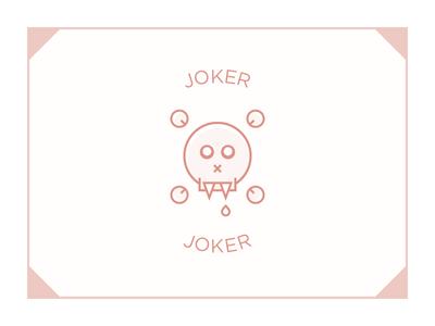 Joker 01 deck cards poker vampire joker icon teeth drop orange face