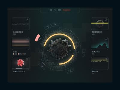 Hud crystal ui futuristic tech hud elements chart cinema4d interface scan light element