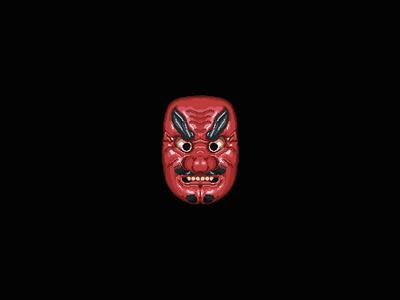 Tengu red emoji icon japan mask pixelart tengu pixel