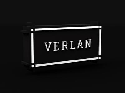 Verlan tattoo frame glow light black cinema4d 3d logo