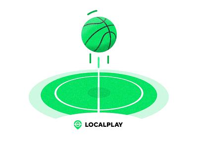 LOCALPLAY - Sports App localplay app football ball flat motion design animation