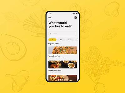 Meating - Social Food App app design adobe 2019 design ux ui motion app flat animation
