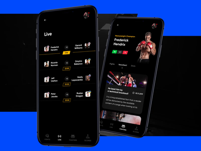 Muaythai Championship App red clean mobile graphicdesign behance design fight score muay thai sports motion app design adobe ux ui app animation
