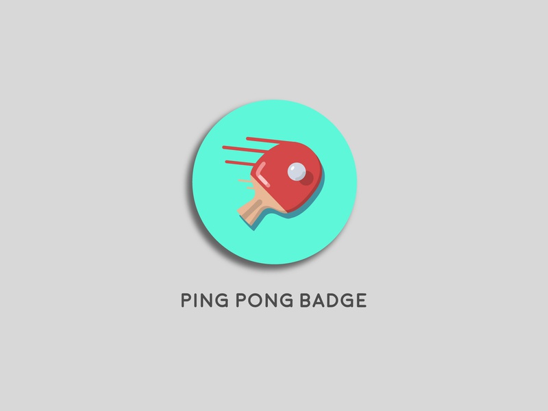Ping Pong Badge
