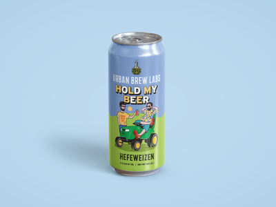 Hold My Beer vector beer can illustration hold my beer urban brew labs packaging beer can packaging design graphic design typography illustration design branding beer illustration