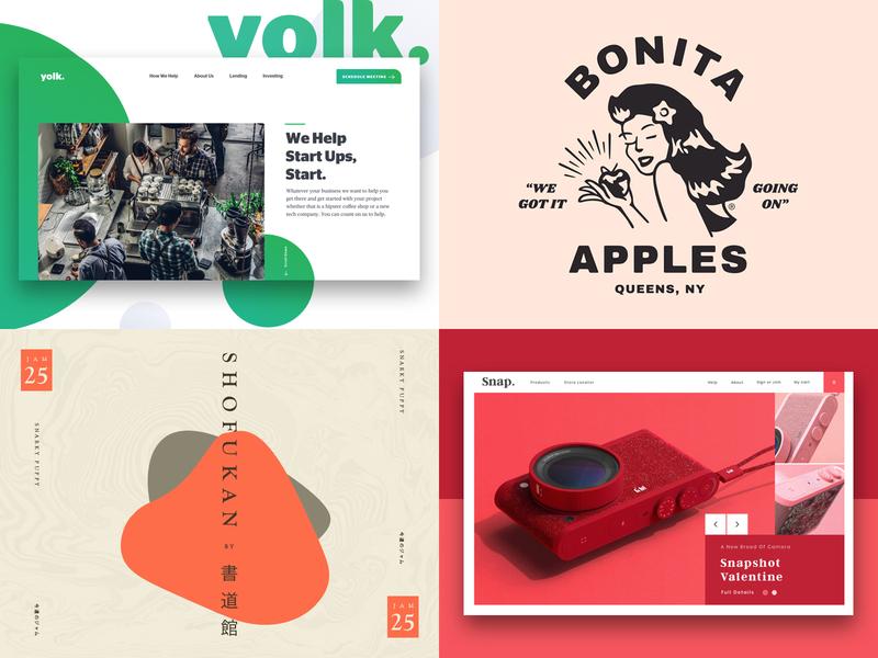 Top Shots 2018 type website web ux typography branding ui logo design illustration