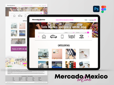 Mercado Mexico Online webdesign web figma figmadesign logo branding design