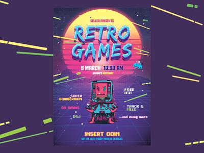 Selleo   Retro Games games design poster retro
