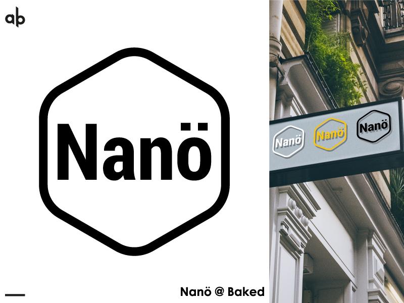 Nano Logo simplicity simple logo simple logo design abstract design abstract logo cafe logo adobe photoshop adobe illustrator design branding vector type logotype logodesign logo typogaphy