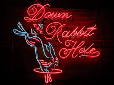 Down The Rabbit Hole Neon