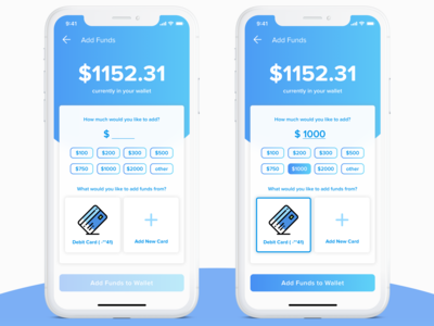 Daily UI 002 - Wallet Add Funds Page
