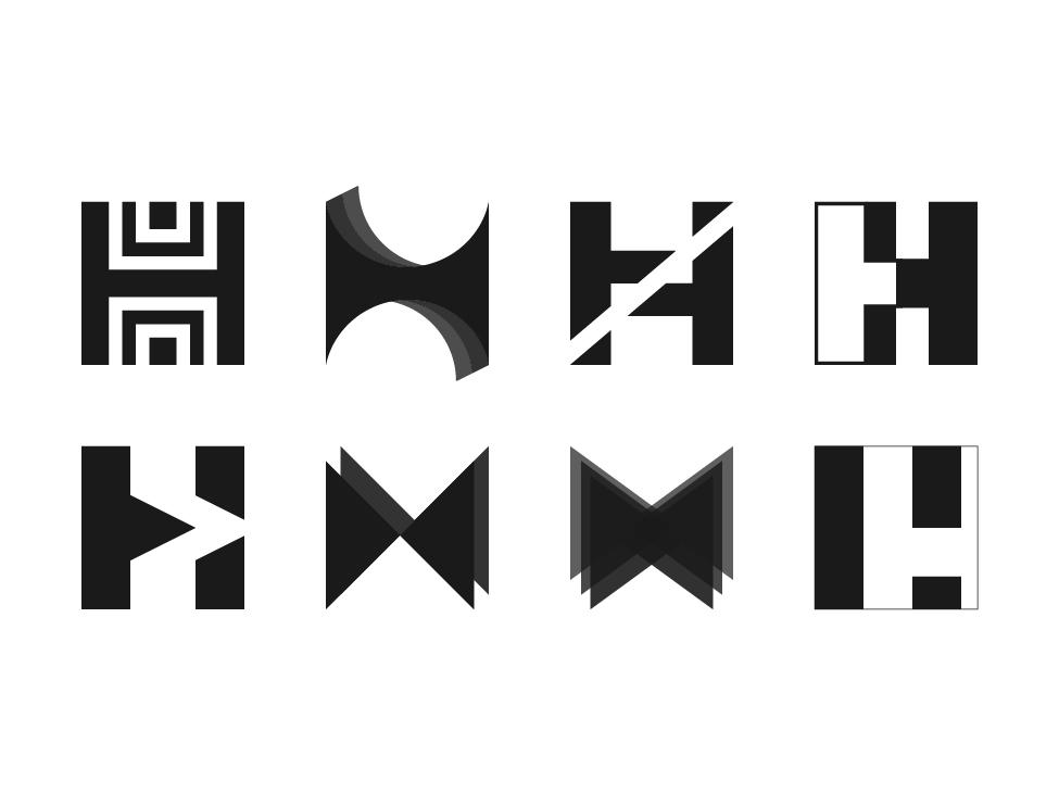 Lettermark H explorations exploration lettermark h letter h branding lettering challenge design typography lettering logo graphic design lettermark logo lettering letter lettermarkexploration graphicdesign