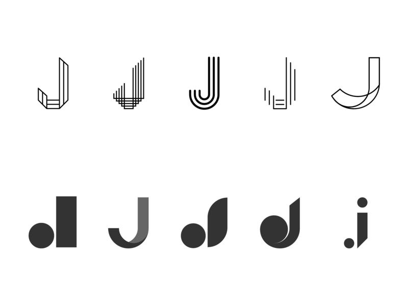 Lettermark J ui letter design icon lettering logo lettering challenge vector typography branding logo graphicdesign lettering lettermarkexploration graphic design lettermark