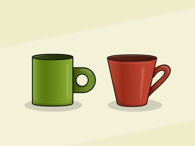 Coffee Mugs vector graphic design art photoshop design