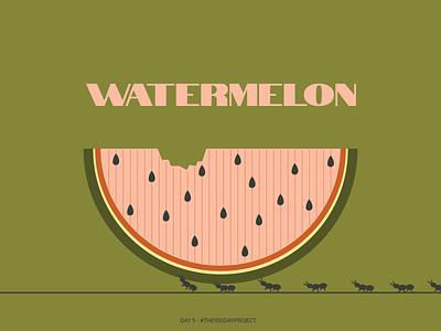 Day 5: a watermelon dailyillustration digital art illustration digital watermelon the100dayproject digitalart daily illustration