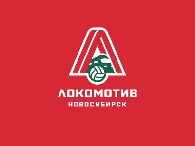Lokomotiv graphic maniac novosibirsk ball identity sport branding sports logo train volley volleyball lokomotiv loko