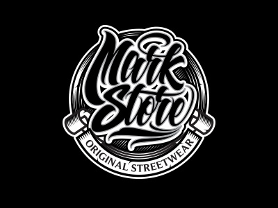 Mark store logo dribbble preview