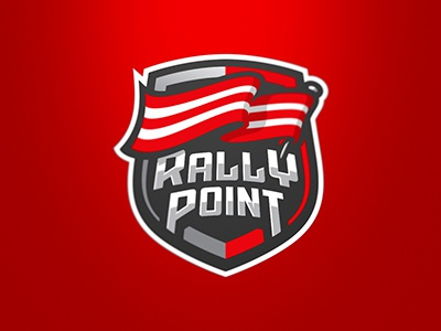 Rally Point graphic maniac gaming esport logo rally point flag sports logo logo