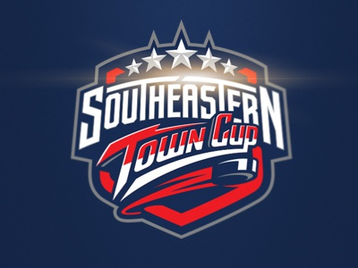Southeastern Town Cup graphic maniac southeastern town cup identity sports branding cup logo hockey logo sports logo hockey logo