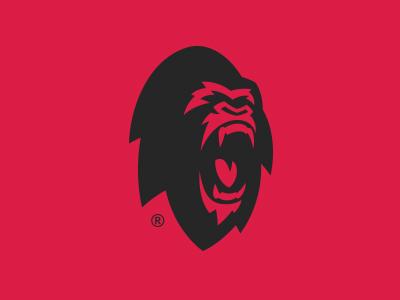 Ape Hunter graphic maniac mascot monkey gorilla ape sports logo sports branding branding logo