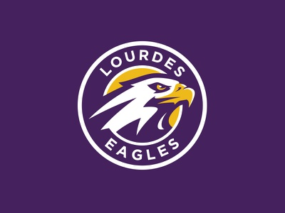 Lourdes Eagles graphic maniac sports branding sports design mascot athletic logo eagle sports logo