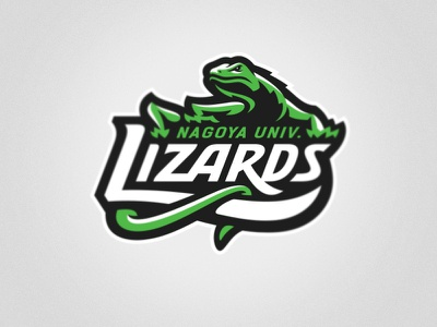 Nagoya Univ. Lizards nagoya univ. graphic maniac sports branding japan lizards lacrosse sports logo