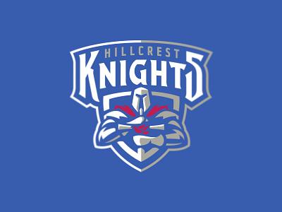 Hillcrest Knights graphic maniac sport branding mascot shield athletic logo sports logo sword crest dove hillcrest knights armor warrior knight christian school hillcrest