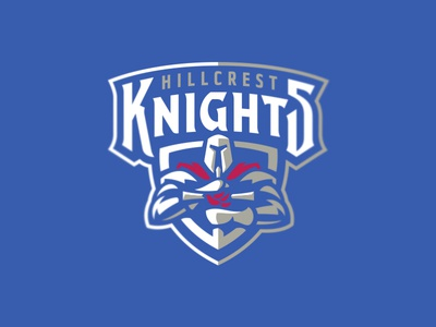 Hillcrest Knights graphic maniac sport branding mascot shield athletic logo sports logo sword crest dove hillcrest knights armor warrior knight christian school hillcrest