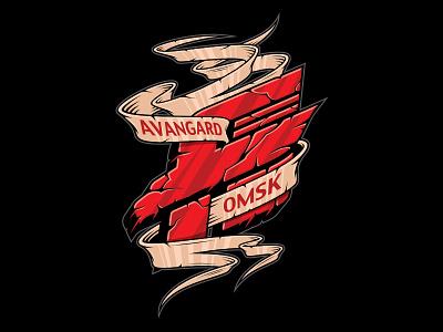 Avangard Omsk кхл хоккей ястребы авангард омский авангард hawks graphic maniac print desihn merch rhl avangard omsk hockey
