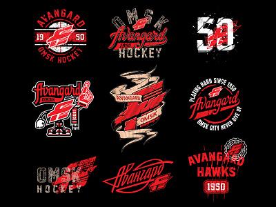 Avangard Omsk Print Pack принт мерч кхл хоккей омский авангард авангард омск lettering graphic maniac illustration hawks merch khl hockey omsk avangard